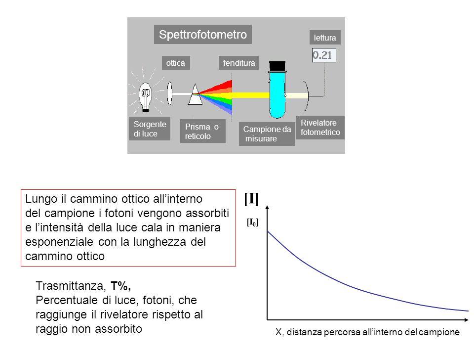 [I] Spettrofotometro Lungo il cammino ottico all'interno